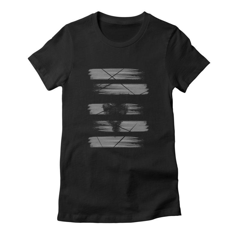 ninja Women's Fitted T-Shirt by jun21's Artist Shop