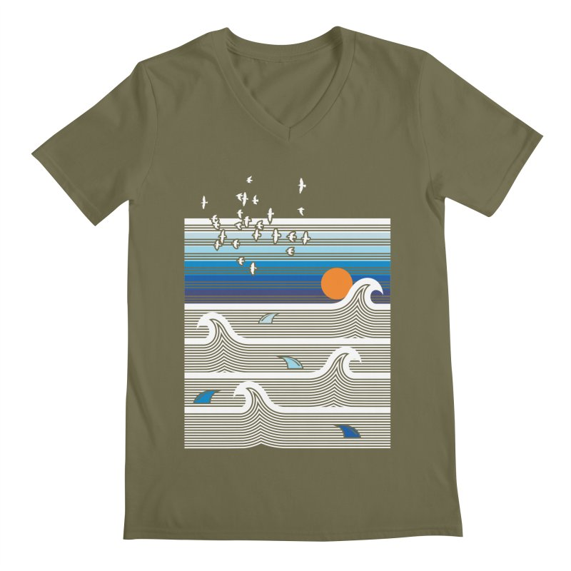Sunset Men's V-Neck by jun21's Artist Shop