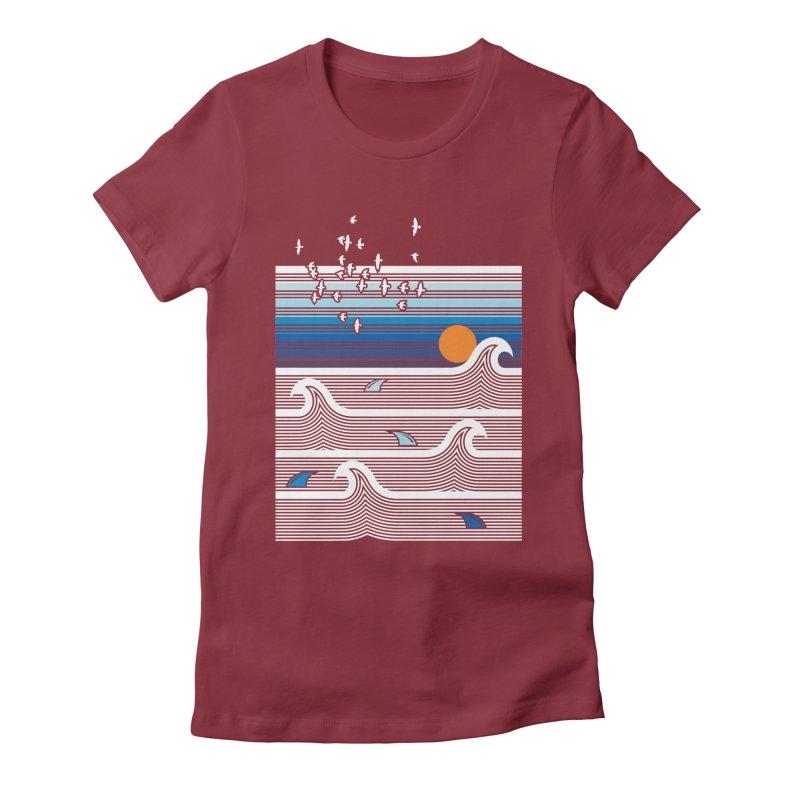 Sunset Women's Fitted T-Shirt by jun21's Artist Shop