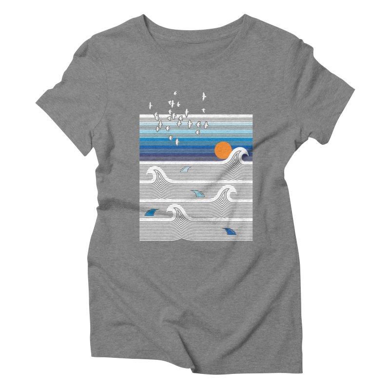 Sunset Women's Triblend T-Shirt by jun21's Artist Shop
