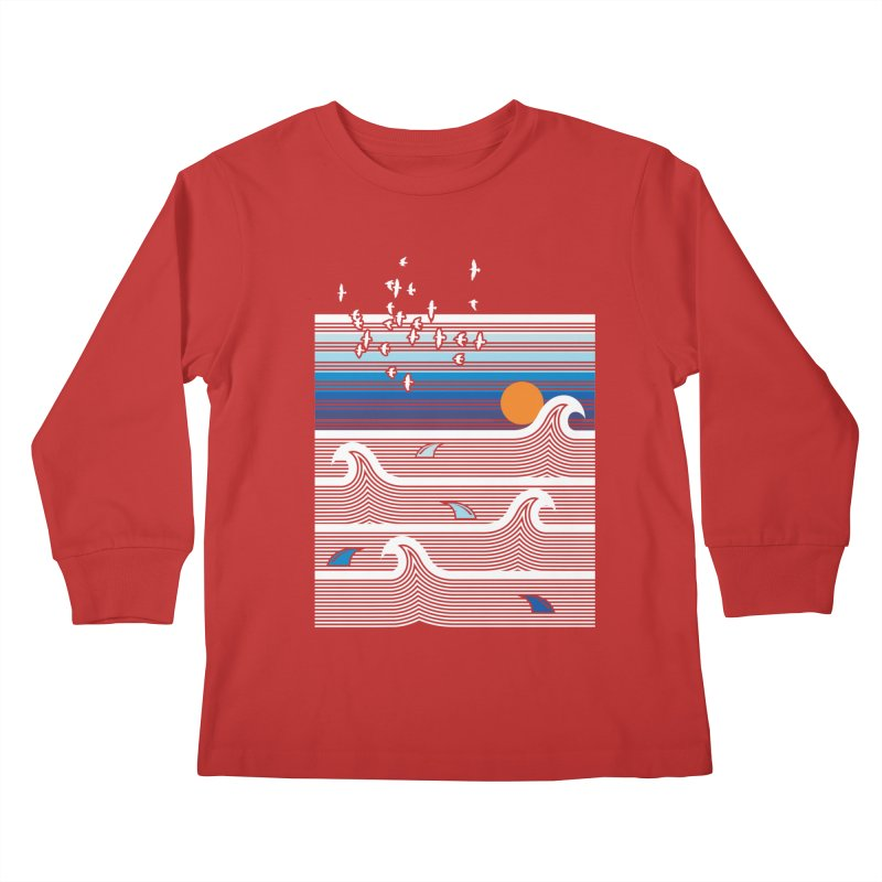 Sunset Kids Longsleeve T-Shirt by jun21's Artist Shop