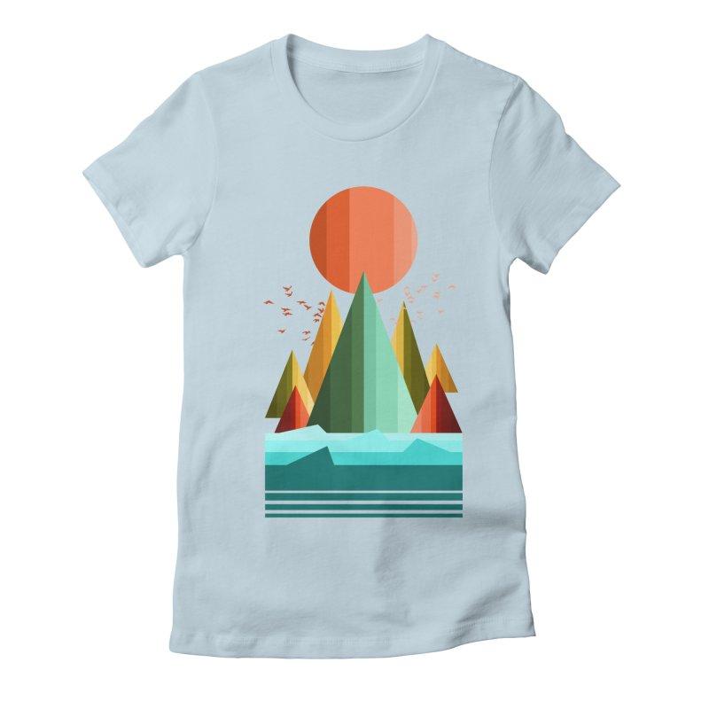 wild life Women's Fitted T-Shirt by jun21's Artist Shop