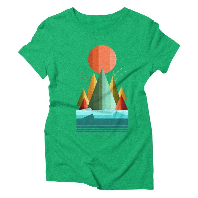 wild life Women's Triblend T-Shirt by jun21's Artist Shop