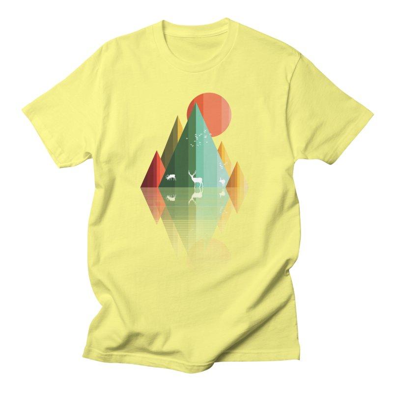 mountain deer Men's T-Shirt by jun21's Artist Shop