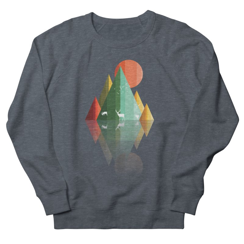 mountain deer Women's Sweatshirt by jun21's Artist Shop
