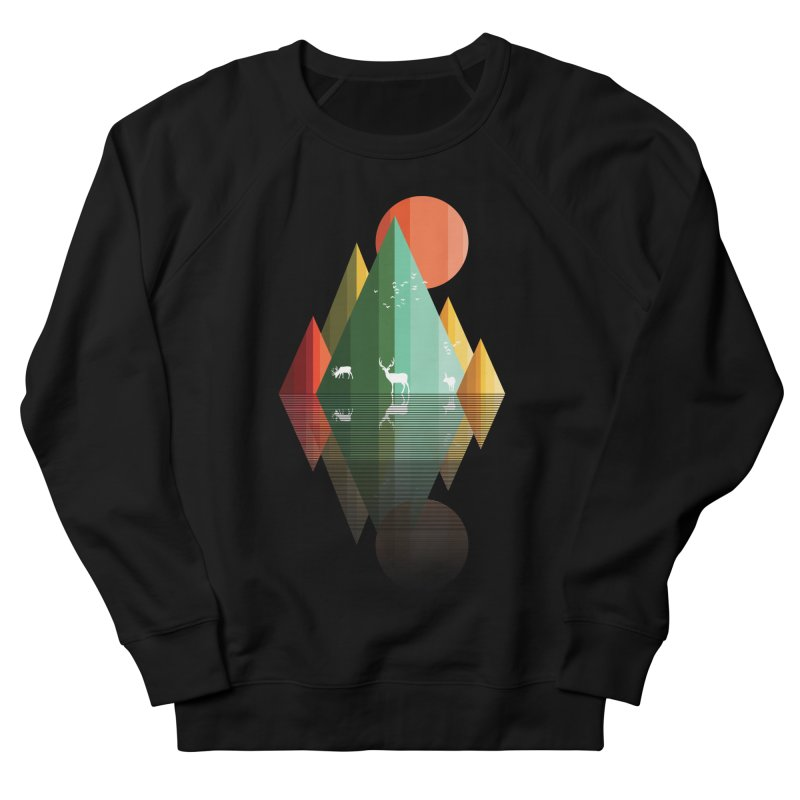 mountain deer Men's Sweatshirt by jun21's Artist Shop
