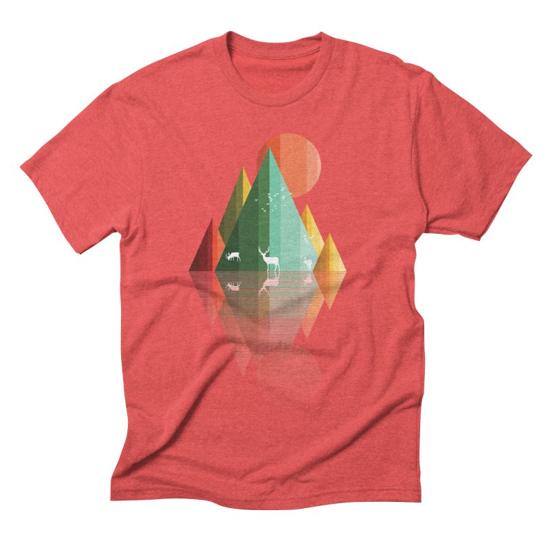 mountain deer Men's Triblend T-Shirt by jun21's Artist Shop