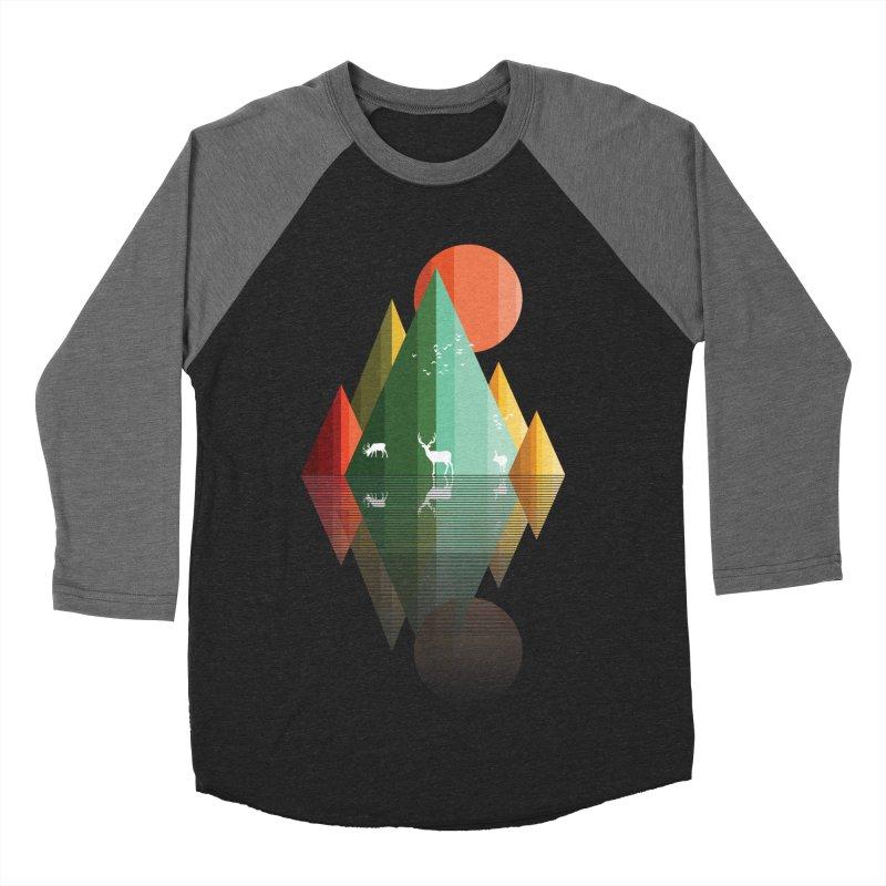 mountain deer Women's Baseball Triblend T-Shirt by jun21's Artist Shop