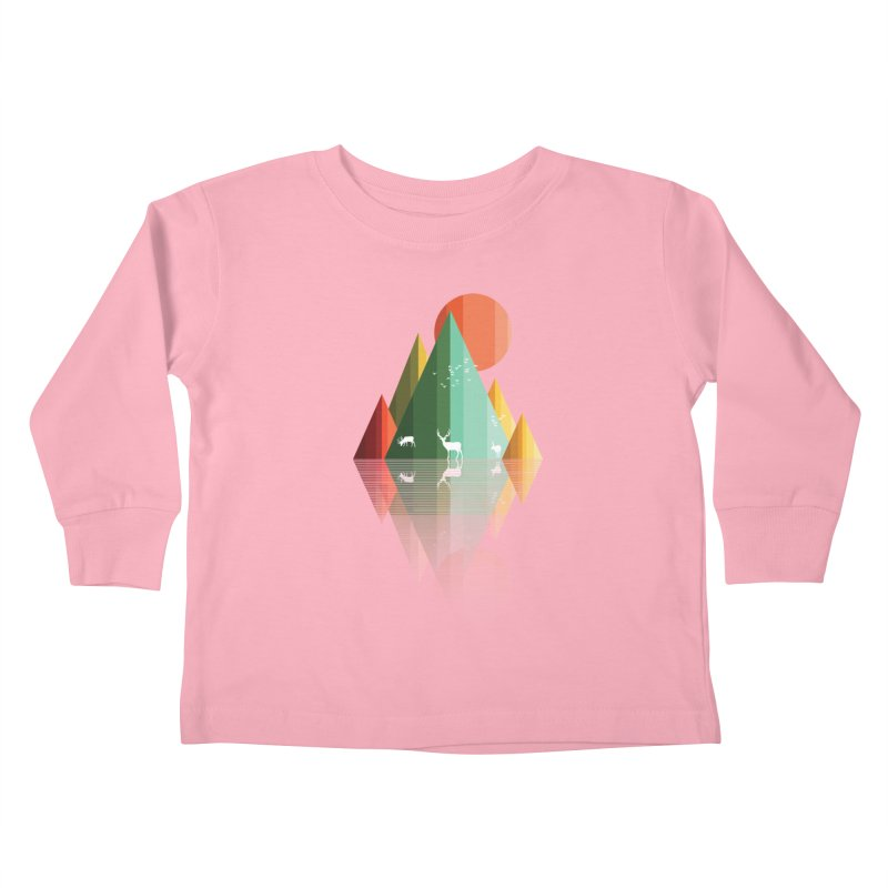 mountain deer Kids Toddler Longsleeve T-Shirt by jun21's Artist Shop