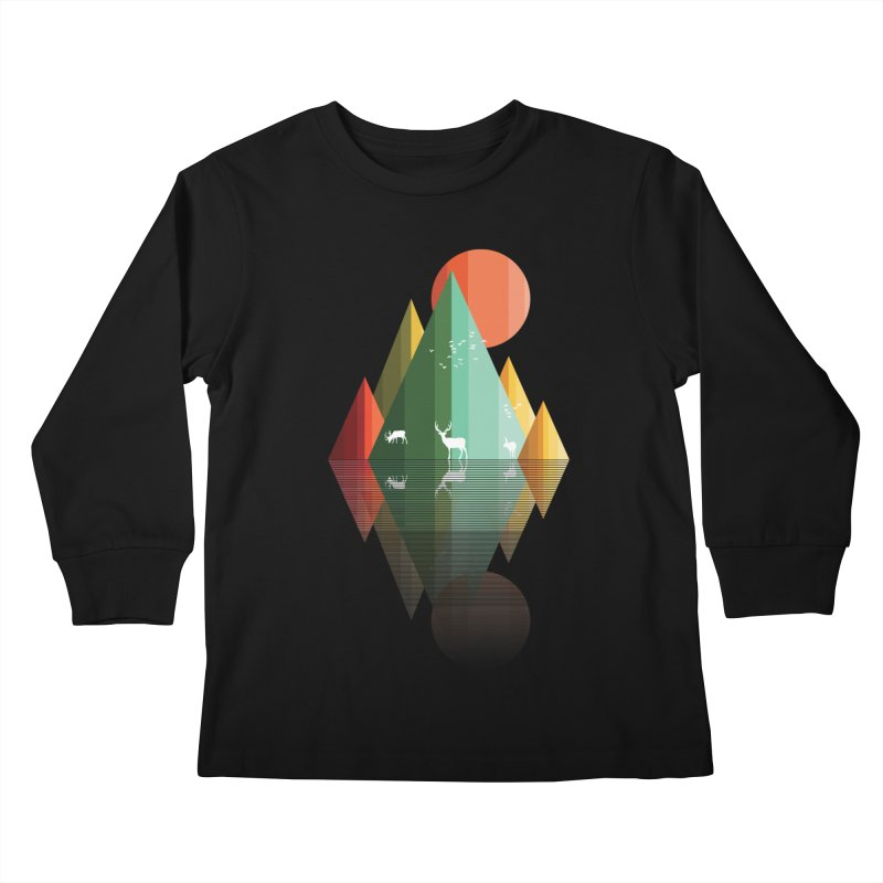 mountain deer Kids Longsleeve T-Shirt by jun21's Artist Shop