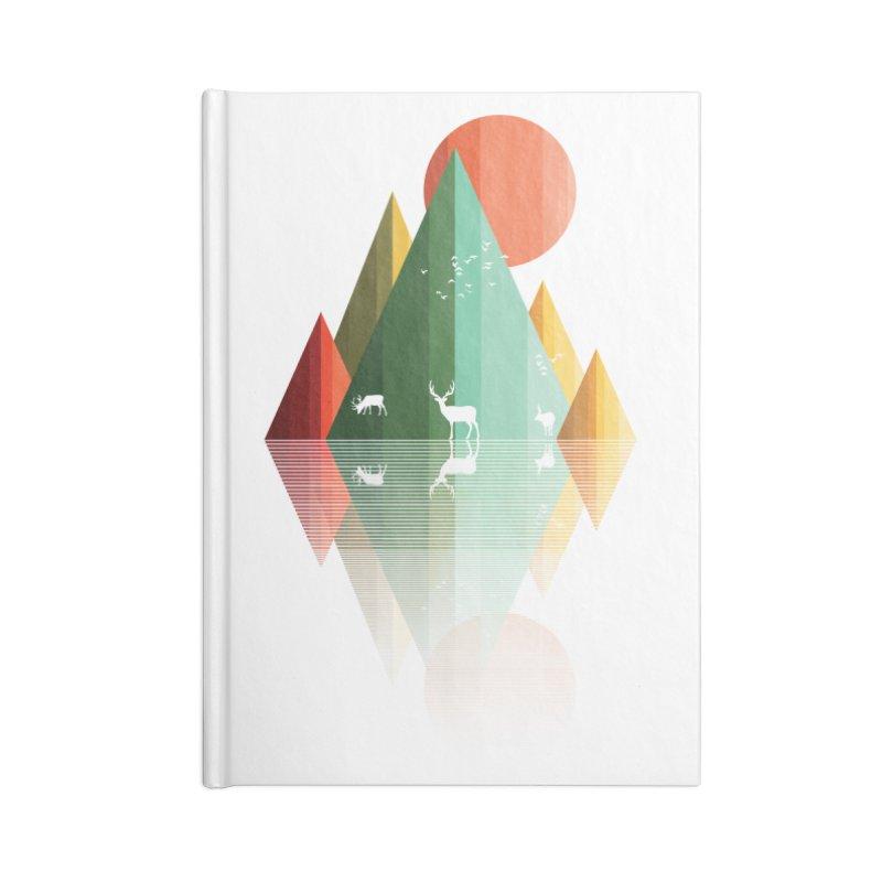 mountain deer Accessories Notebook by jun21's Artist Shop