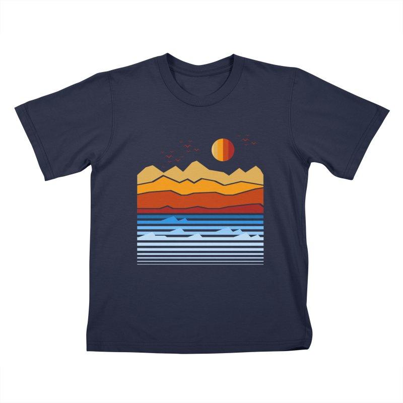the land Kids T-Shirt by jun21's Artist Shop