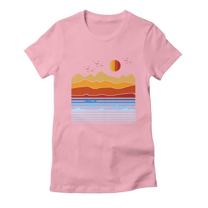 the land Women's Fitted T-Shirt by jun21's Artist Shop