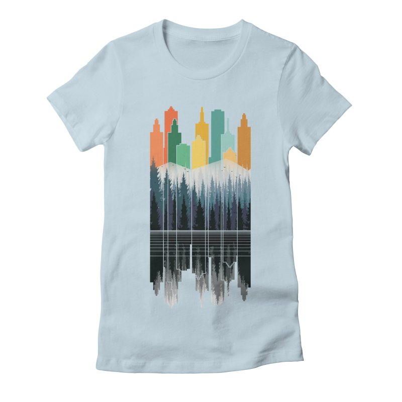 New City Women's Fitted T-Shirt by jun21's Artist Shop
