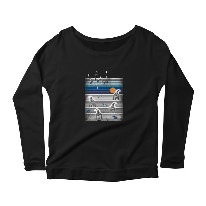 sunset Women's Longsleeve T-Shirt by jun21's Artist Shop
