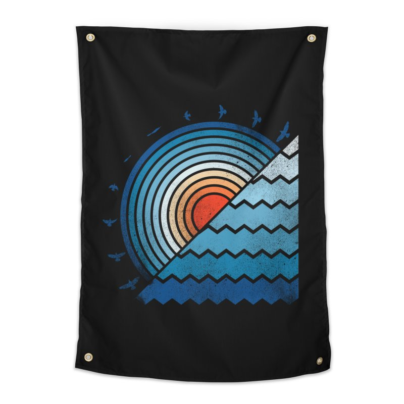 sunset Home Tapestry by jun21's Artist Shop