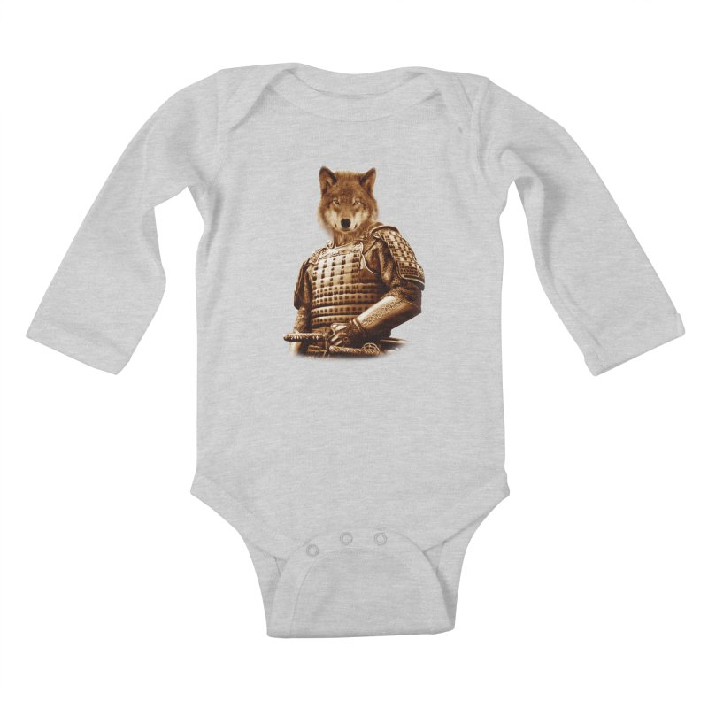 The last samurai  Kids Baby Longsleeve Bodysuit by jun21's Artist Shop