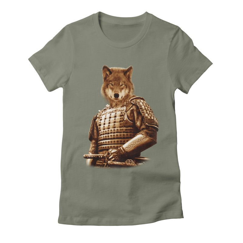 The last samurai  Women's Fitted T-Shirt by jun21's Artist Shop