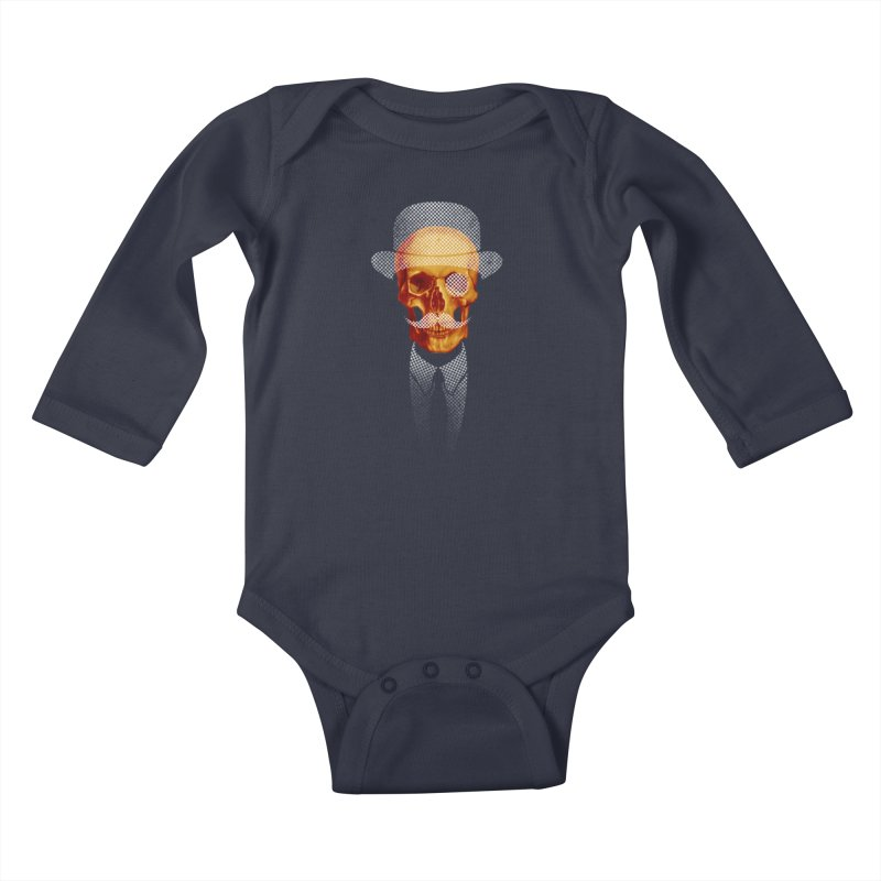 Mr. Skull Kids Baby Longsleeve Bodysuit by jun21's Artist Shop