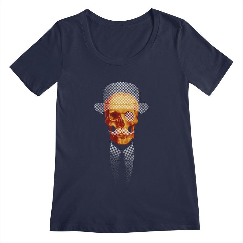 Mr. Skull Women's Scoopneck by jun21's Artist Shop