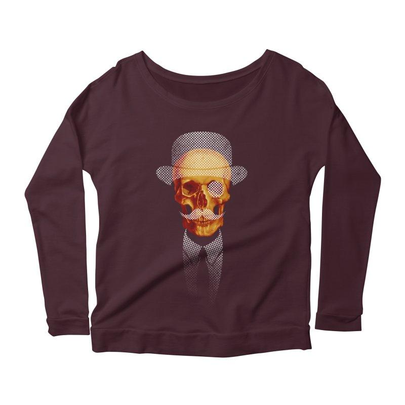 Mr. Skull Women's Longsleeve Scoopneck  by jun21's Artist Shop