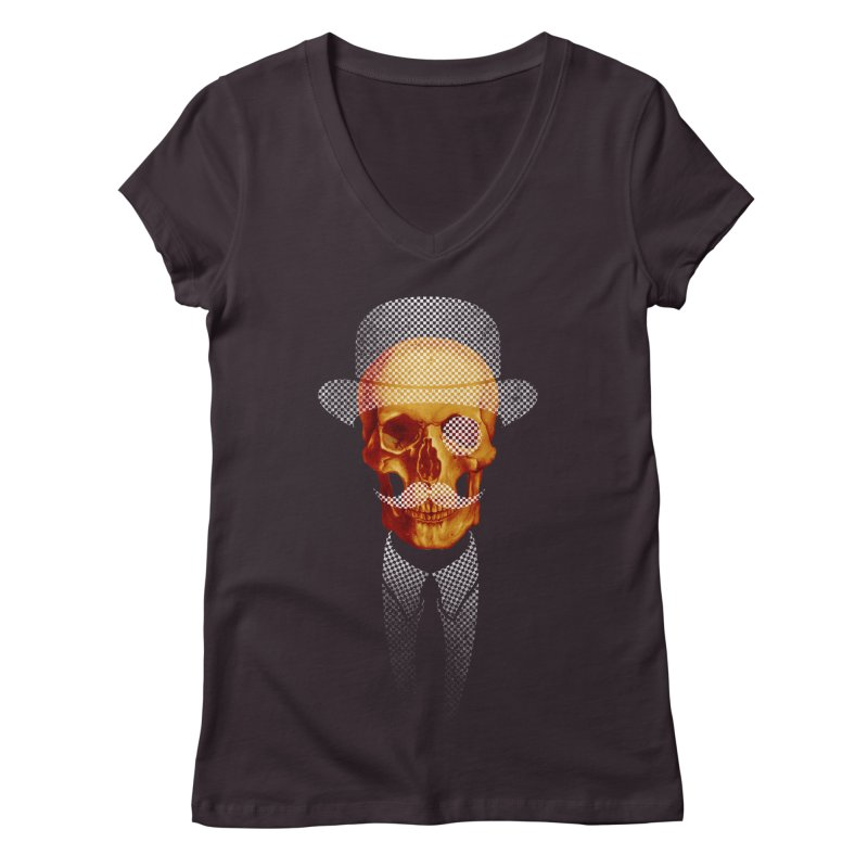 Mr. Skull Women's V-Neck by jun21's Artist Shop