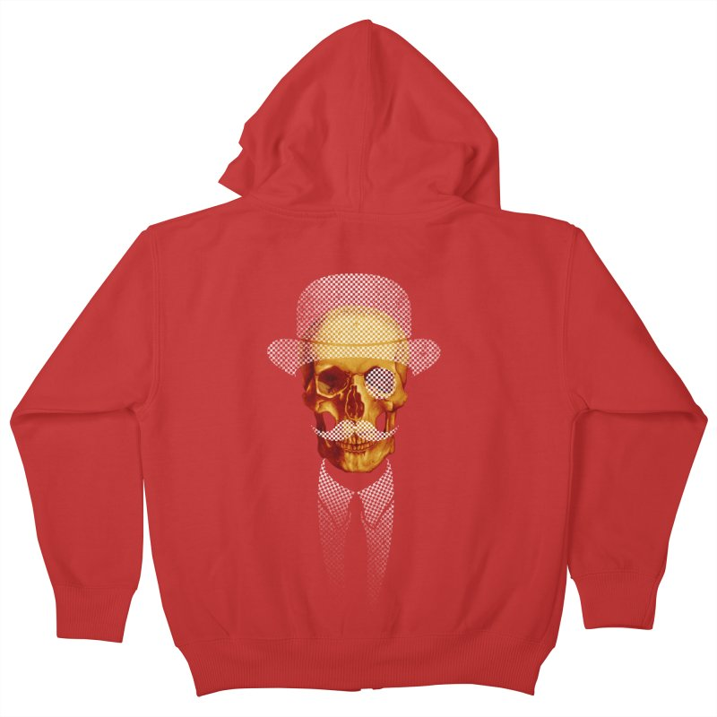 Mr. Skull Kids Zip-Up Hoody by jun21's Artist Shop