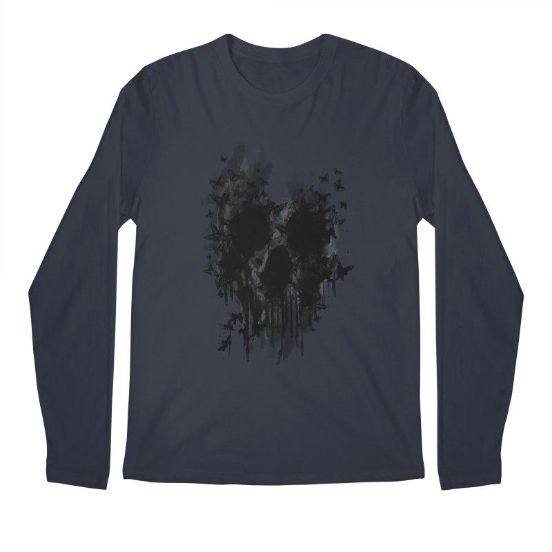 butterfly skull  Men's Longsleeve T-Shirt by jun21's Artist Shop