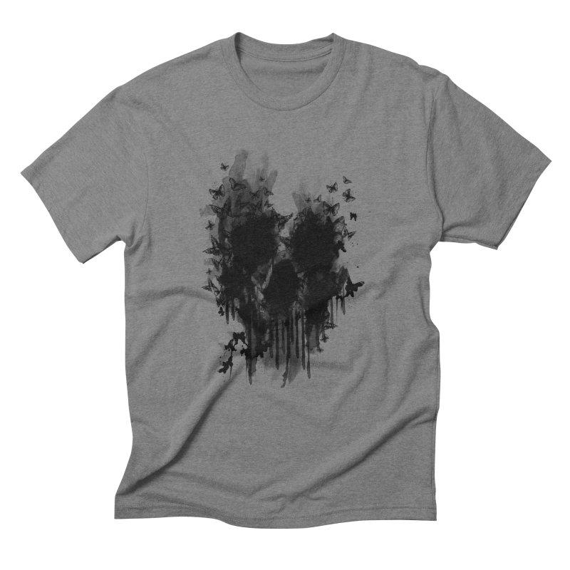 butterfly skull  Men's Triblend T-Shirt by jun21's Artist Shop
