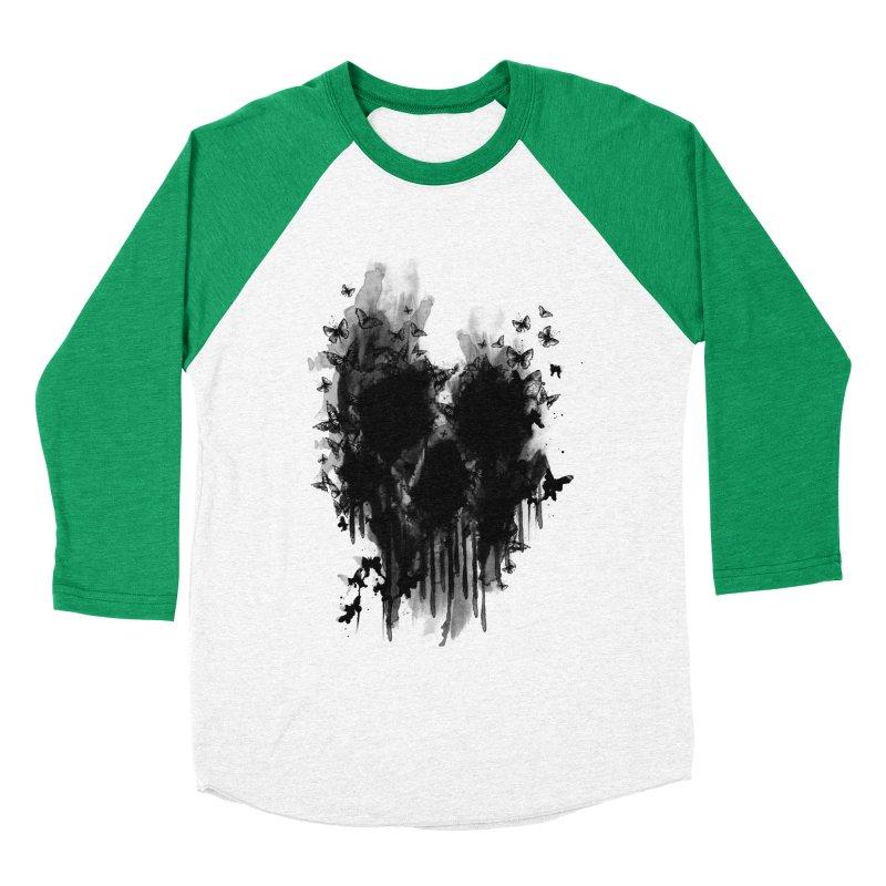 butterfly skull  Women's Baseball Triblend T-Shirt by jun21's Artist Shop