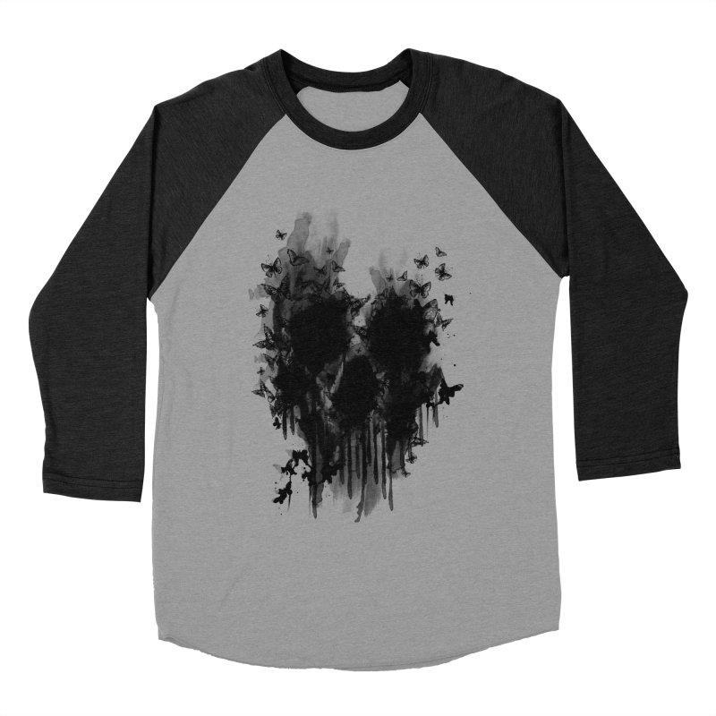 butterfly skull  Men's Baseball Triblend T-Shirt by jun21's Artist Shop