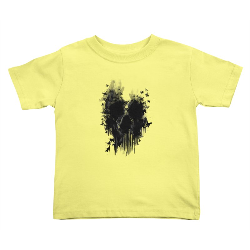 butterfly skull  Kids Toddler T-Shirt by jun21's Artist Shop