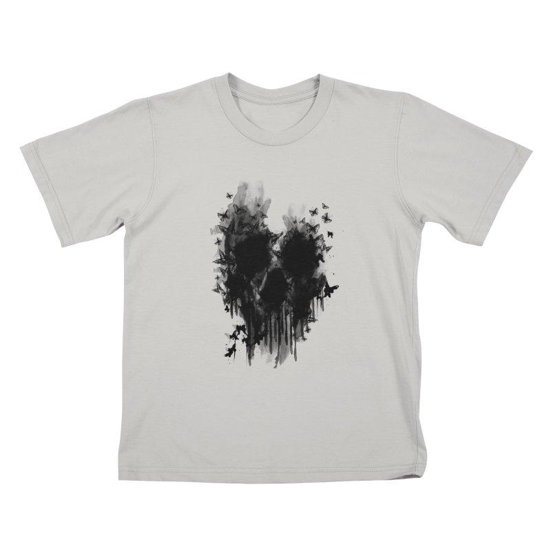 butterfly skull  Kids T-shirt by jun21's Artist Shop