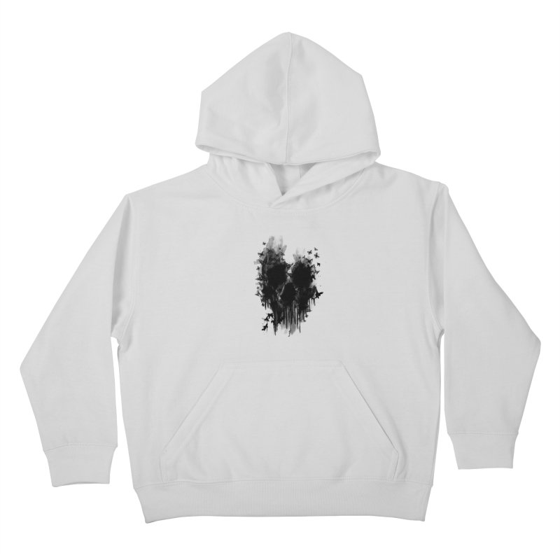 butterfly skull  Kids Pullover Hoody by jun21's Artist Shop