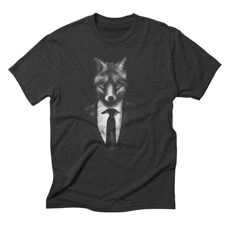 Mr. Fox  Men's Triblend T-shirt by jun21's Artist Shop