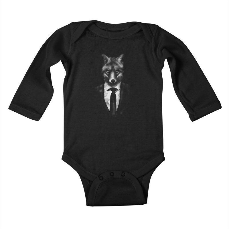 Mr. Fox  Kids Baby Longsleeve Bodysuit by jun21's Artist Shop