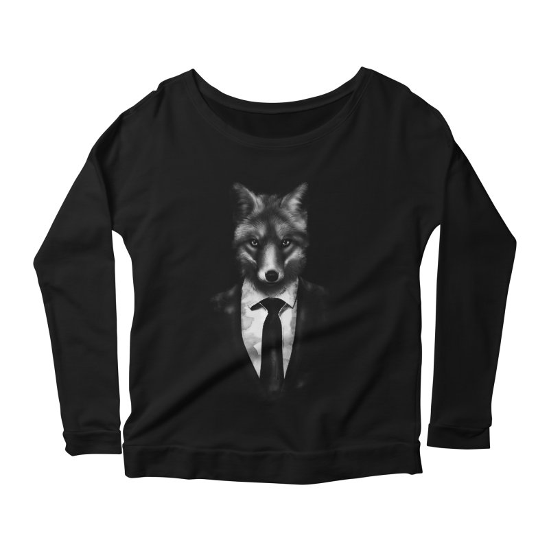 Mr. Fox  Women's Longsleeve Scoopneck  by jun21's Artist Shop