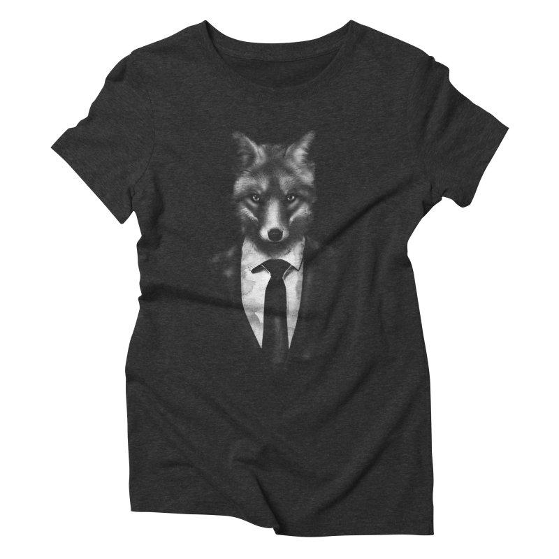 Mr. Fox  Women's Triblend T-Shirt by jun21's Artist Shop