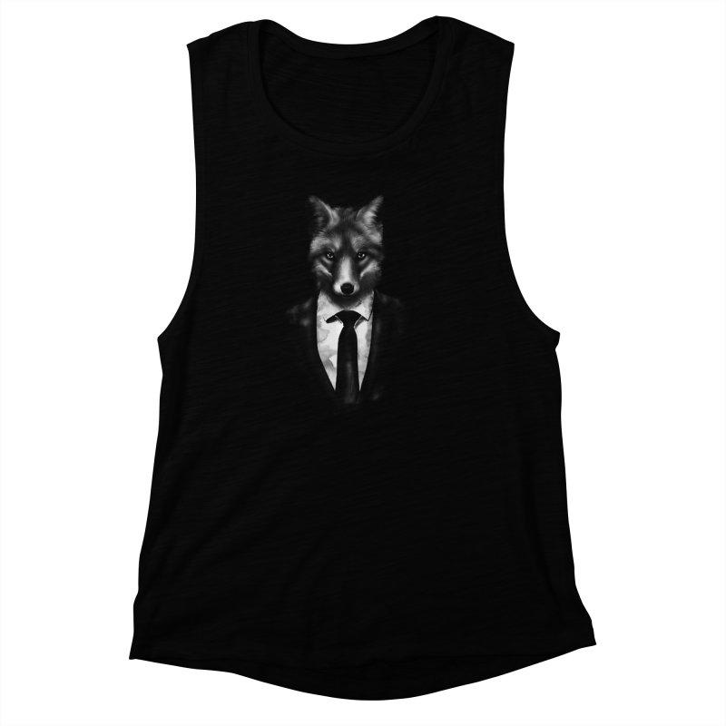 Mr. Fox  Women's Muscle Tank by jun21's Artist Shop