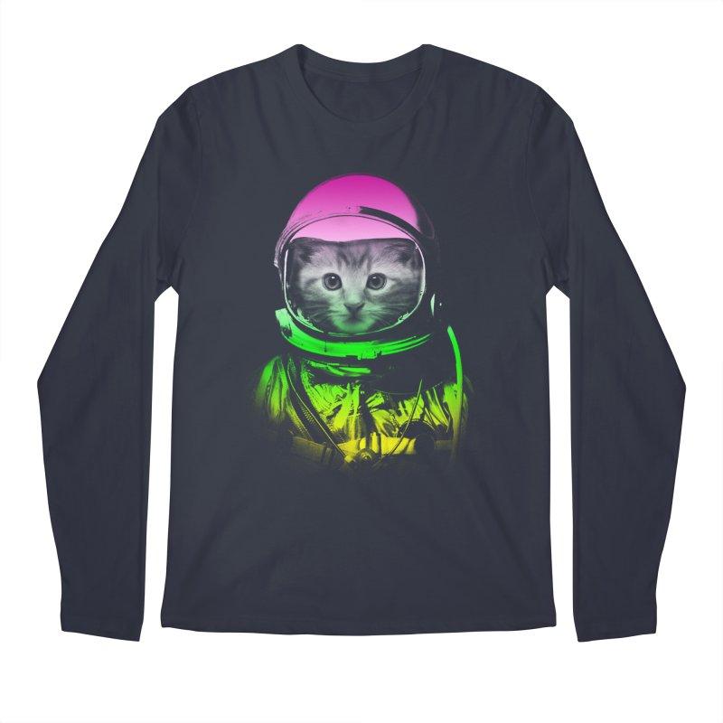 astronaut cat  Men's Longsleeve T-Shirt by jun21's Artist Shop