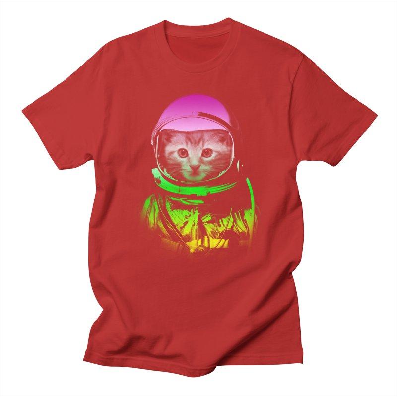 astronaut cat  Men's T-shirt by jun21's Artist Shop