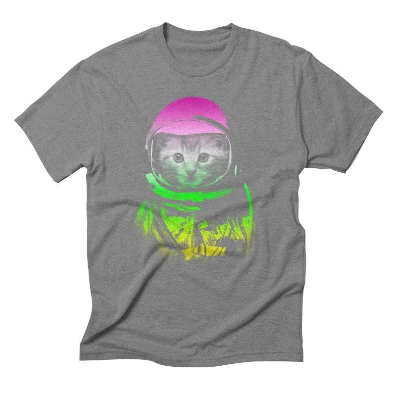 astronaut cat  Men's Triblend T-Shirt by jun21's Artist Shop
