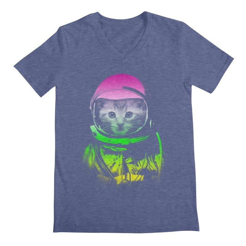 astronaut cat  Men's V-Neck by jun21's Artist Shop