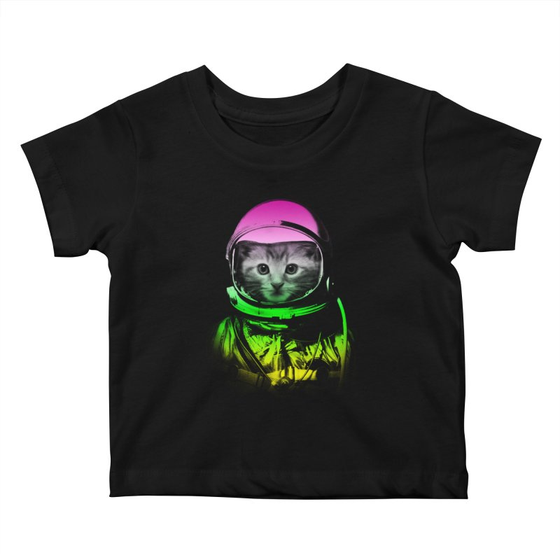 astronaut cat  Kids Baby T-Shirt by jun21's Artist Shop