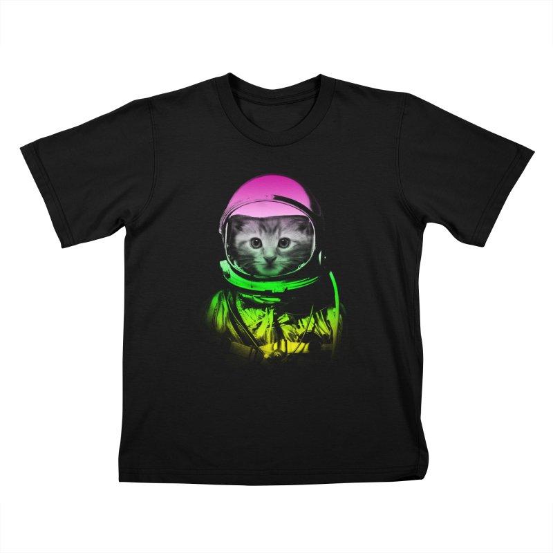 astronaut cat  Kids T-shirt by jun21's Artist Shop