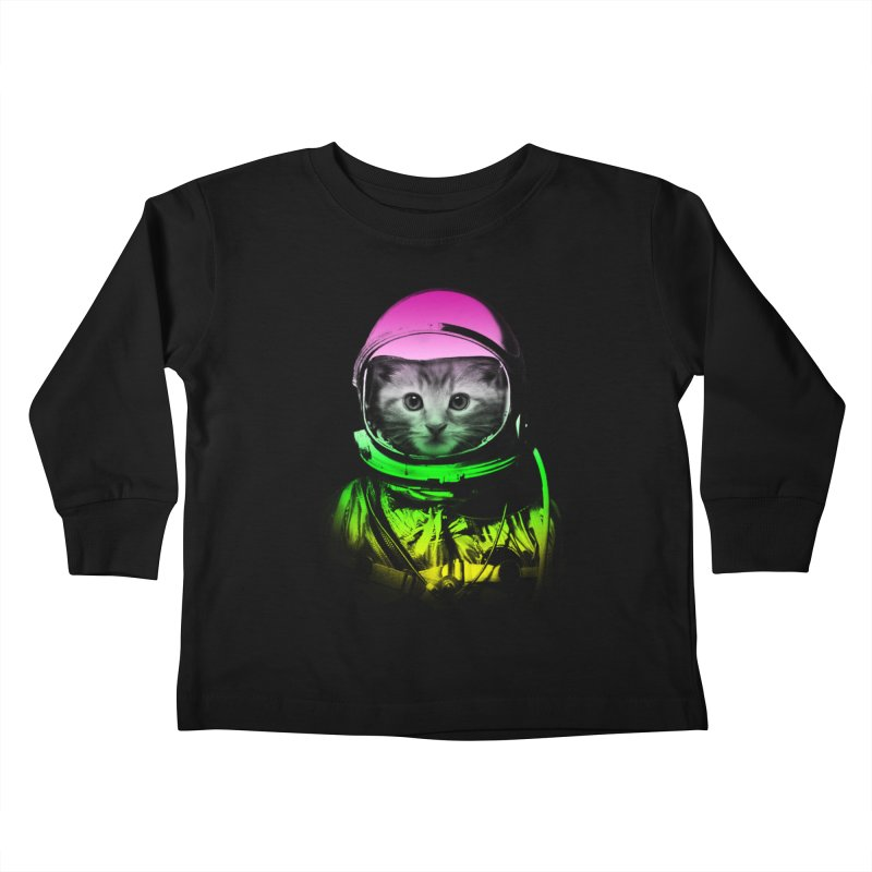 astronaut cat  Kids Toddler Longsleeve T-Shirt by jun21's Artist Shop