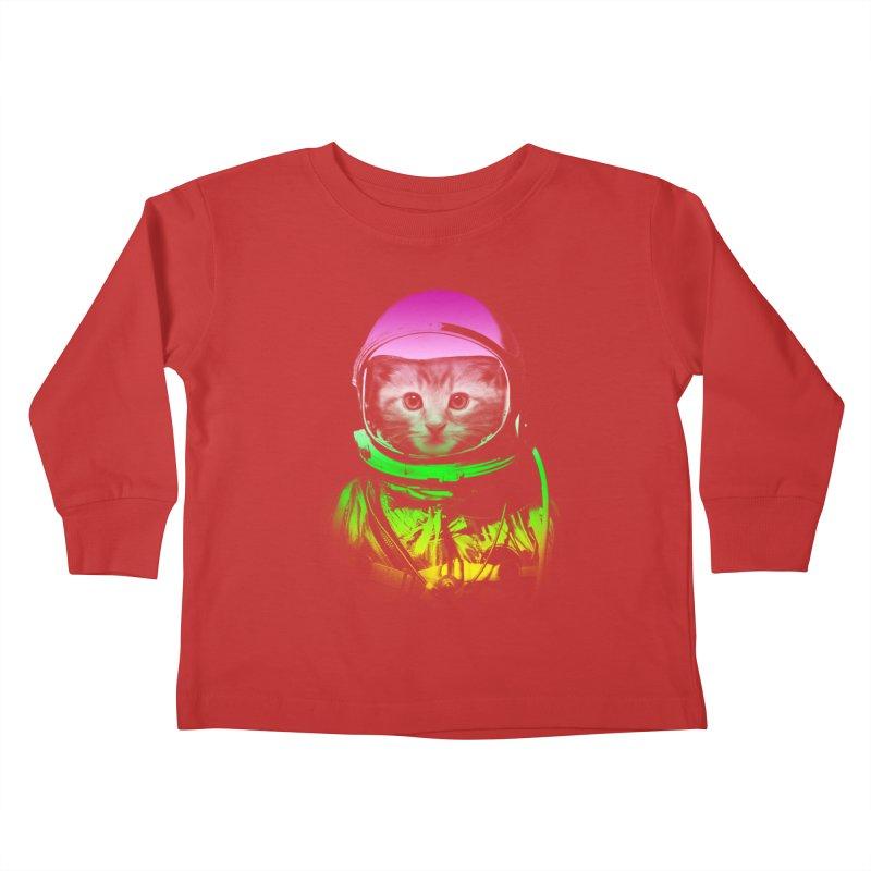 astronaut cat  Kids Toddler Longsleeve T-Shirt by jun21's Artist Shop