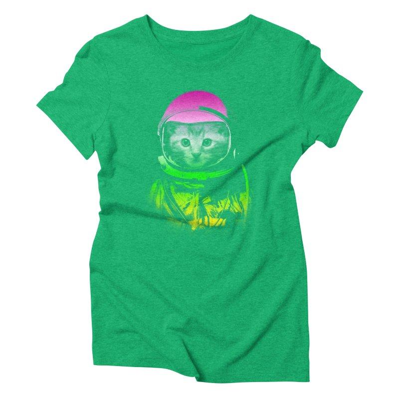 astronaut cat  Women's Triblend T-shirt by jun21's Artist Shop