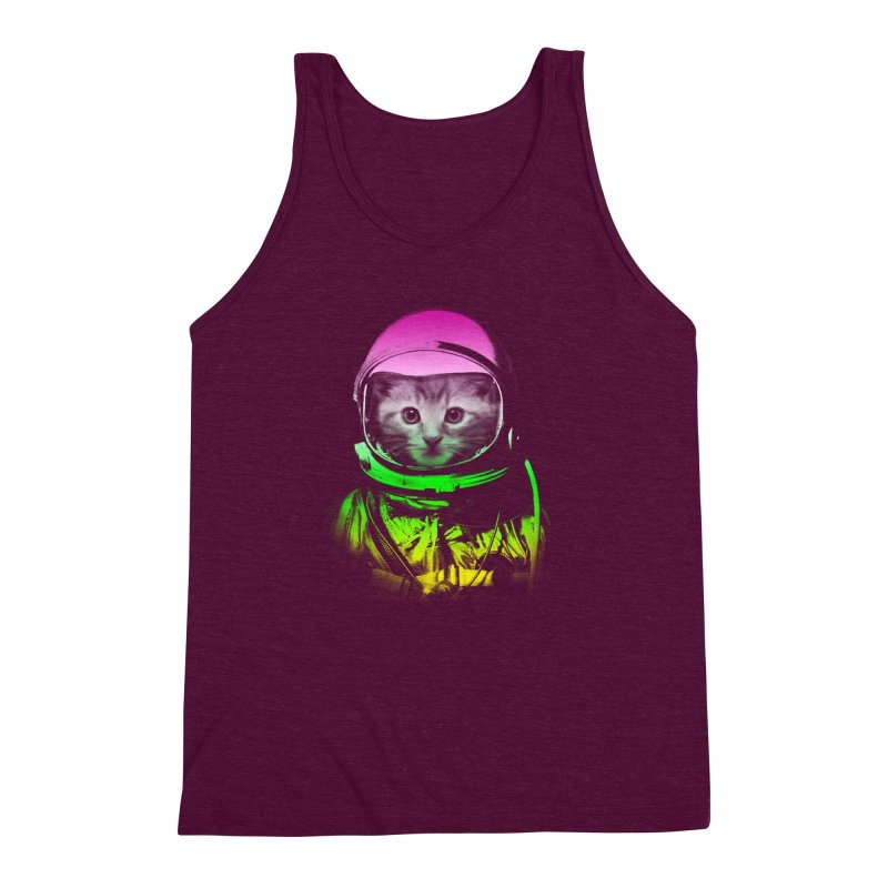 astronaut cat  Men's Triblend Tank by jun21's Artist Shop