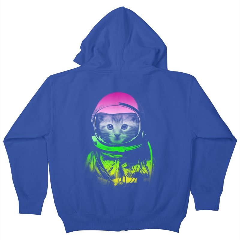 astronaut cat  Kids Zip-Up Hoody by jun21's Artist Shop